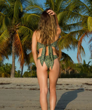 Load image into Gallery viewer, Mira Classic Reversible Bandeau Bikini Top in Jungle Print
