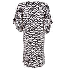 Load image into Gallery viewer, Pom Pom Dress Black & White