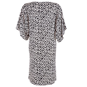 Pom Pom Dress Black & White