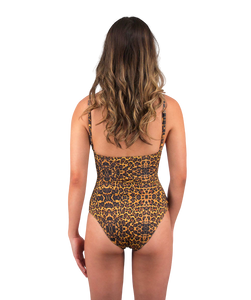 Savannah One Piece Swimsuit in Leopard Print