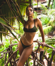 Load image into Gallery viewer, Noa Kai Sofia Bralette Top in Forest Green