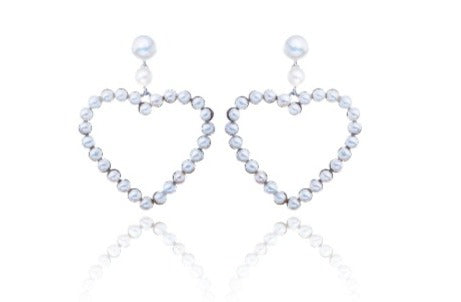 Julie Miles Love Heart Earrings