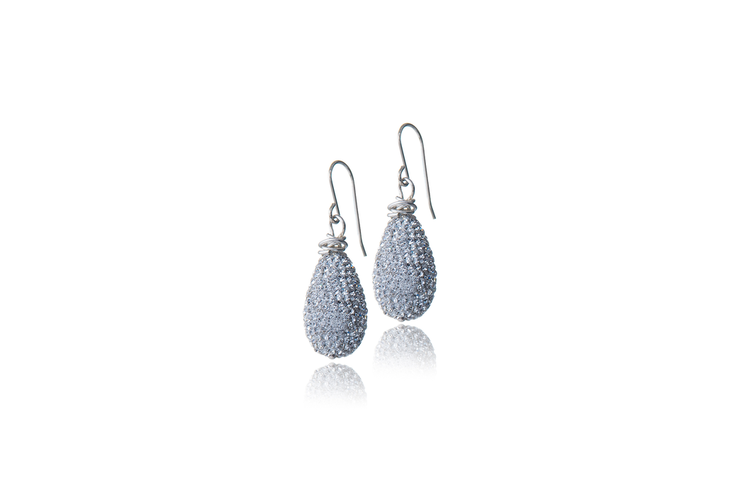Julie Miles Swarovski Crystal Earrings Wire-Wrapped with Sterling Silver