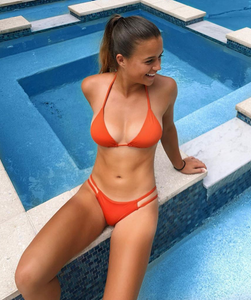 Valeria Triangle Top in Reef Orange