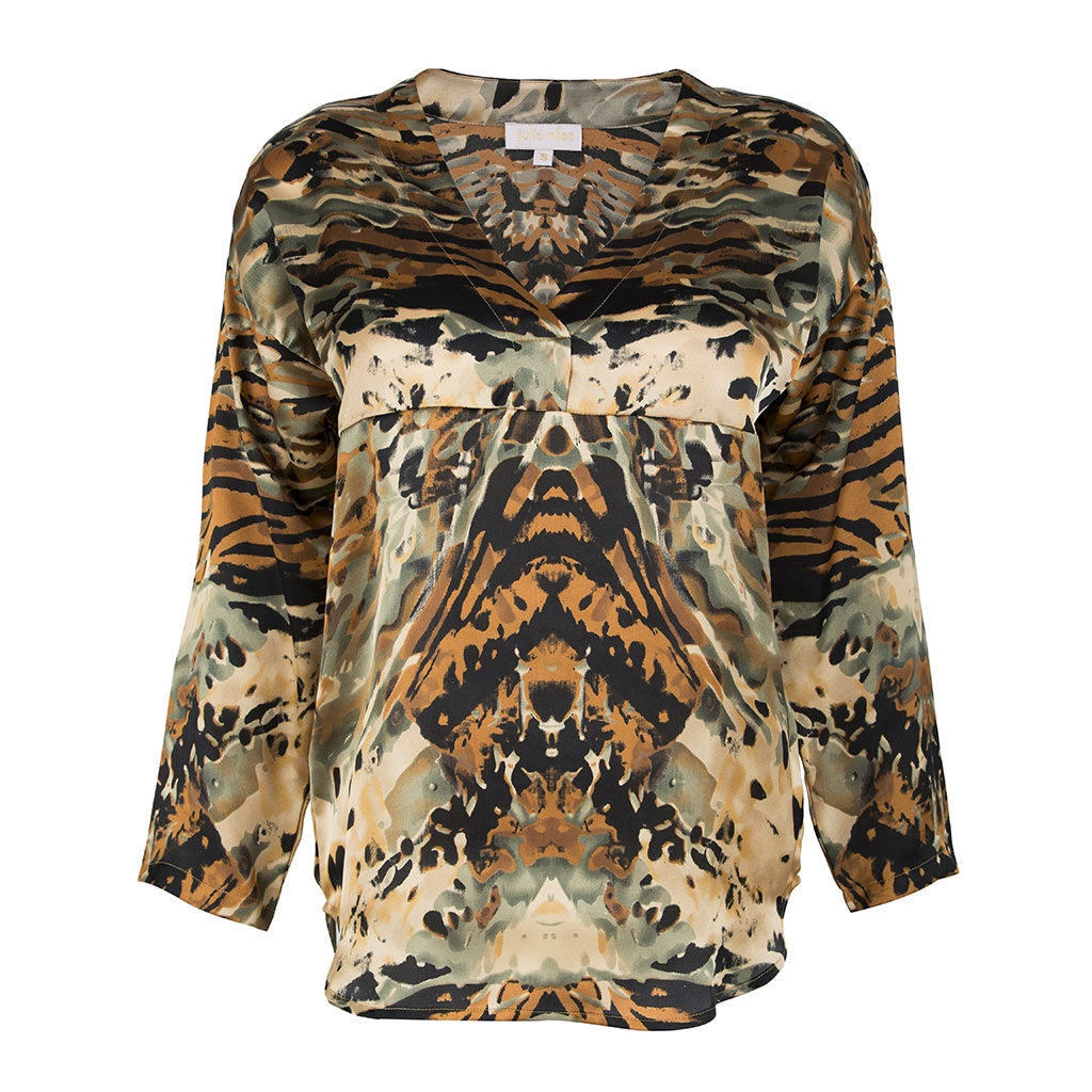 Zarah Shirt Animal Gold