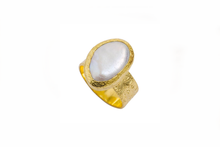 Load image into Gallery viewer, Julie Miles Gold Baroque Ring