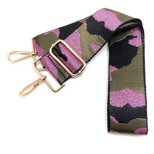 Load image into Gallery viewer, Camo in Canvas Green & Metallic Pink