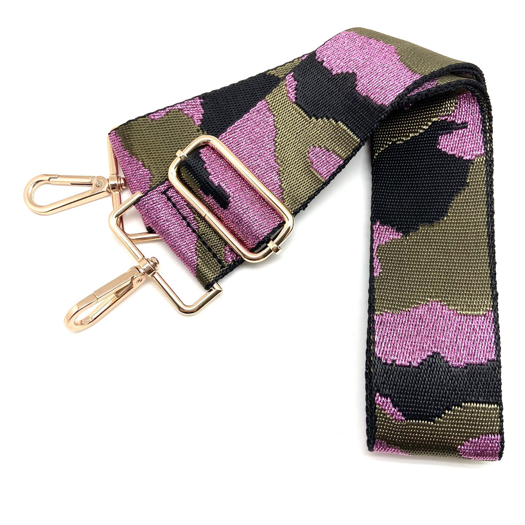 Camo in Canvas Green & Metallic Pink