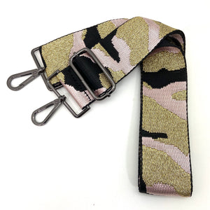 Camo in Canvas Lt Pink & Metallic Gold