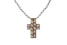 Load image into Gallery viewer, Julie Miles Pearl Cross Necklace