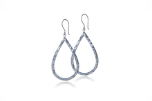 Load image into Gallery viewer, Julie Miles Sterling Silver Tear Drop Earrings