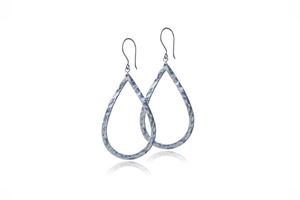 Julie Miles Sterling Silver Tear Drop Earrings