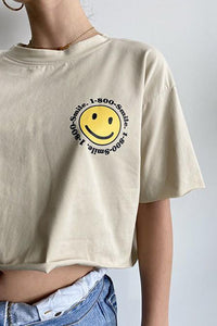 1-800-Smile Cropped Tee
