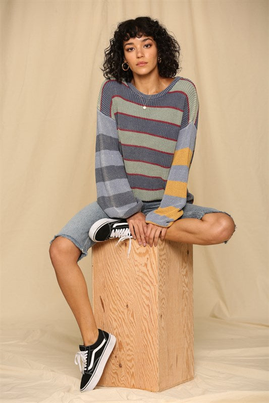 Be Bold Striped Sweater
