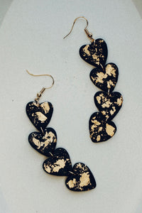 Black Juliette Clay Earrings