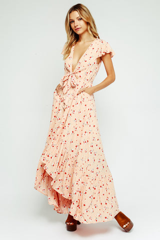 Blossom High-Low Maxi Dress