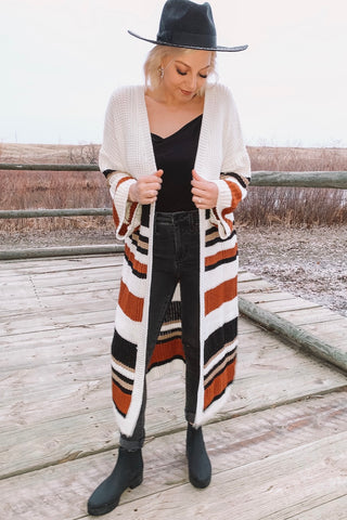 Cardi Party Striped Cardigan