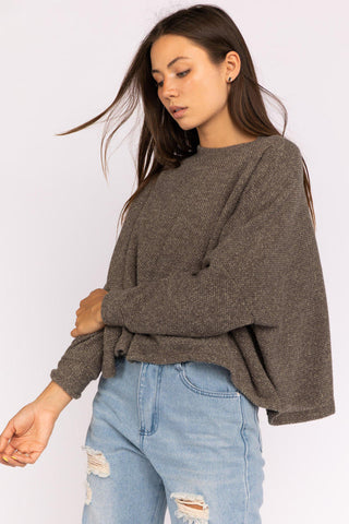 Cover Your Basics Mocha Pullover