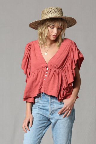For The Frill Of It Top