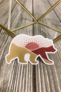 Ursa Sunrise Bear Sticker