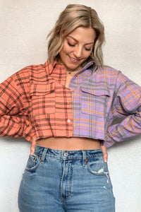 Kacey Plaid Crop