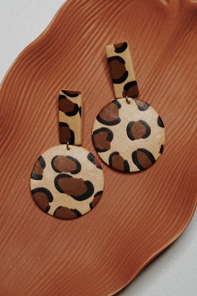 Live Wildly Clay Earrings