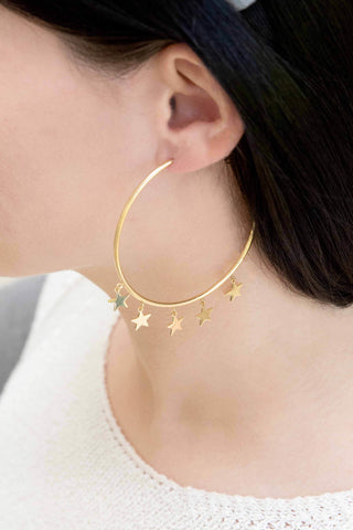 Milky Way Hoop Earrings (14K)