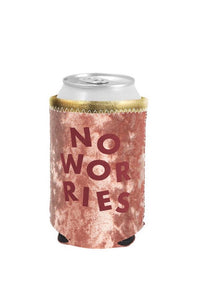 Metallic + Velvet Can Cooler – No Worries