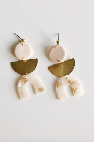 Nude Terrazzo Ingrid Earrings