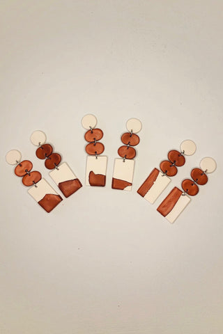 Terracotta Ridge Clay Earrings