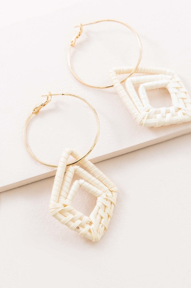 Timeshare Wicker Hoop Earrings