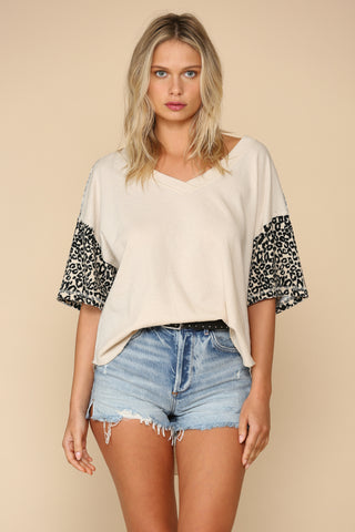 Wild Card Statement Sleeve Top