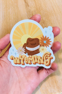 Wyoming Retro Vibes Sticker