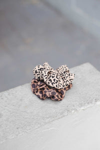 Leopard Scrunchie Duo