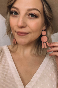Bay Cream Clay Earrings
