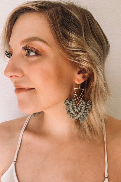 Georgie Macramé Earrings