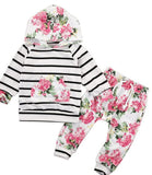 Toddler Girls Floral Jumpsuit 2 Piece Outfit