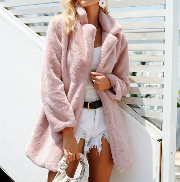 Womens Fall and Winter New Jackets Faux Fur Coat - Loving Lane Co