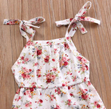 Adorable Floral Romper Baby Girl Infant Floral Jumpsuit