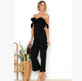 Off-shoulder Full Length Jumpsuits - Loving Lane Co