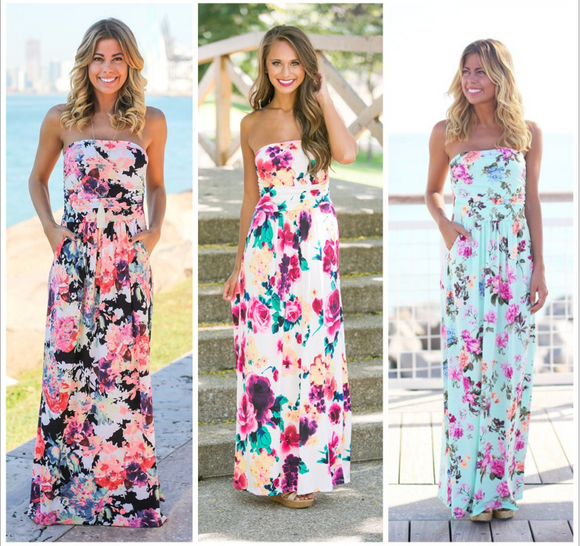 NEW Floral Maxi Dress Vacation Dress