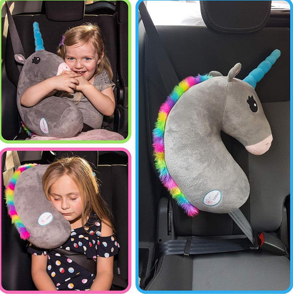 Unicorn Car Seat Belt Headrest Pillow Universal fit for all Cars Trucks