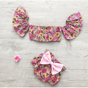 Baby Girl 2 Piece Floral Romper Set