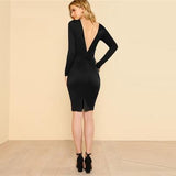 Women Dress Sexy Evening Party  Autumn Backless - Loving Lane Co