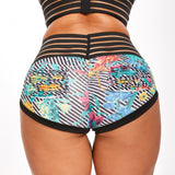 Floral Print Booty Scrunch Shaping Fitness Sports Slim Yoga Shorts Women