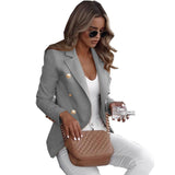 Womens Chic Jacket Fall Blazer in 6 Colors Sizes Small to Plus Sizes