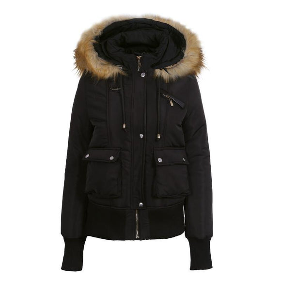 New Fur Collar Hooded Jackets for Women