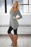 New Womens Fall Longsleeve Shirts in 10 Colors Small to Plus Sizes - Loving Lane Co