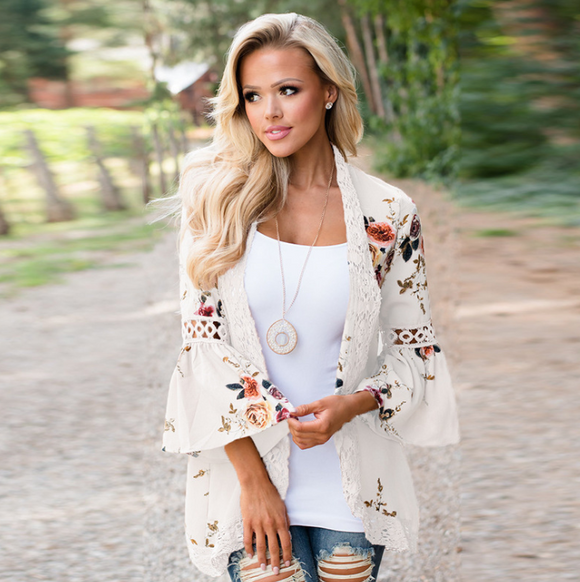 Fall Floral Print Womens Jackets in 6 Colors