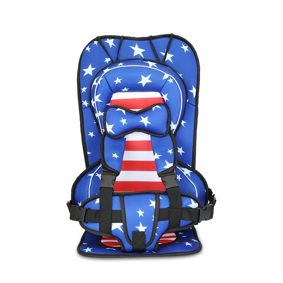 Portable Car Seat American Flag Child Safety Seat Travel Car Seat Booster Seat